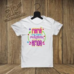 Camiseta mama palabra